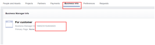 点击Bussiness information后进入的页面